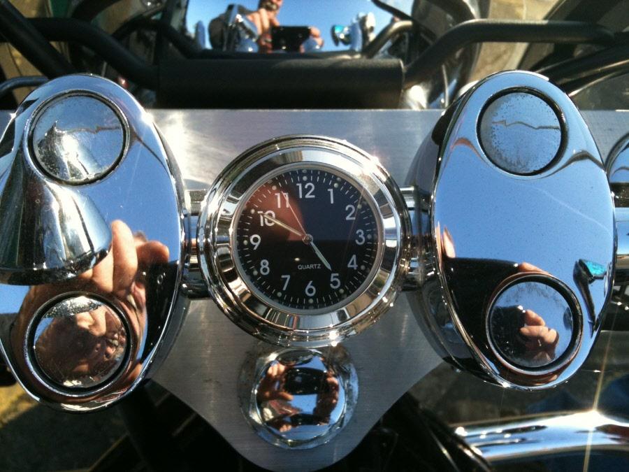 Motorcycle Clock Handlebar Stem Nut Watch Motorbike Gauge