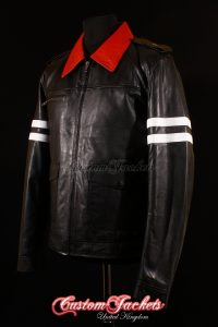 Men's PROTOTYPE Black & Red Dragon Embroidery Lambskin Leather Game Cosplay Jacket