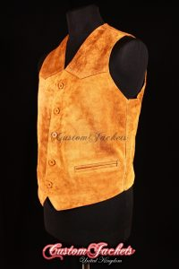 Men's AUTOGRAPH Tan Suede Real Genuine Soft Hide Leather Smart Waistcoat