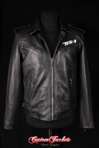 Men's BSA Faith Rockers Revenge George Michael Black Aniline Cowhide Leather Motorcycle Biker Jacket