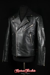 Men's SILVERSTONE Cafe Racer Black Lambskin Biker Style Motorcycle Real Leather Jacket