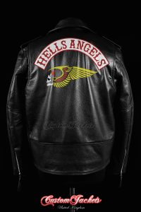Men's HELLS ANGELS Black Real Genuine Cowhide Leather Motorcycle Biker Gang Jacket