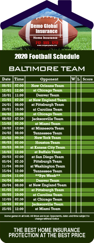 3 5x9 Custom One Team Baltimore Team Football Schedule