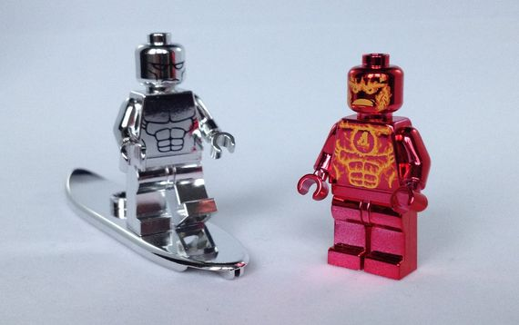 Chrome Torch Custom Minifigure   Custom LEGO Minifigures Chrome Custom Minifigures