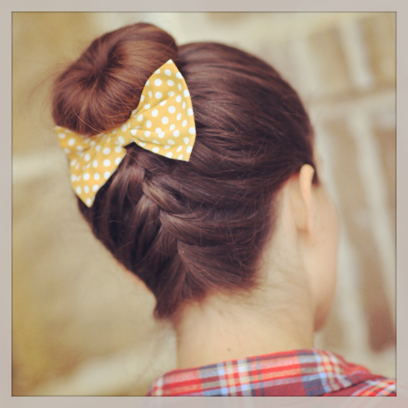 French Up High Bun   Updo Hairstyle Ideas   Cute Girls Hairstyles Upside Down French Braid Bun
