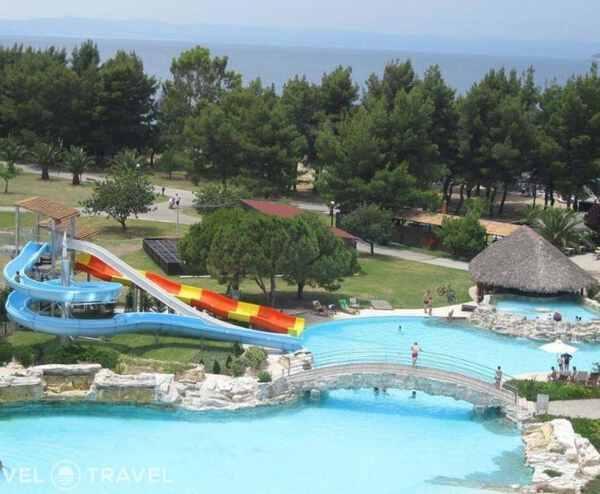 аквапарк отеля Porto Carras Sithonia Греция отдых с детьми