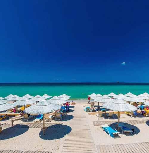 песчаный пляж Potidea Palace Греция отдых с детьми
