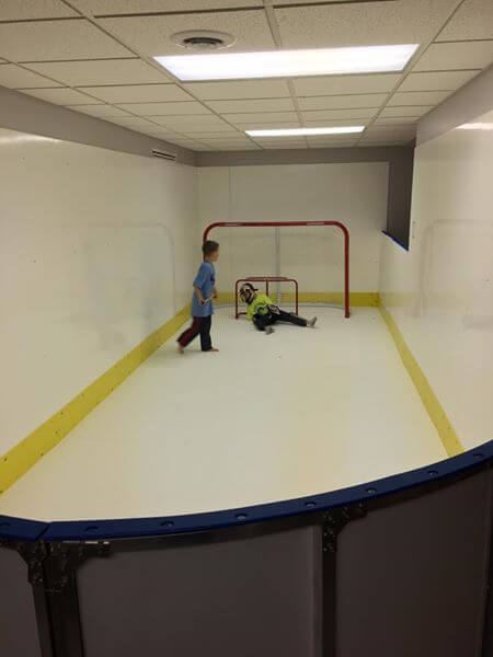 Garage Basement Rinks Hockey Boards Amp Synthetic Ice D1
