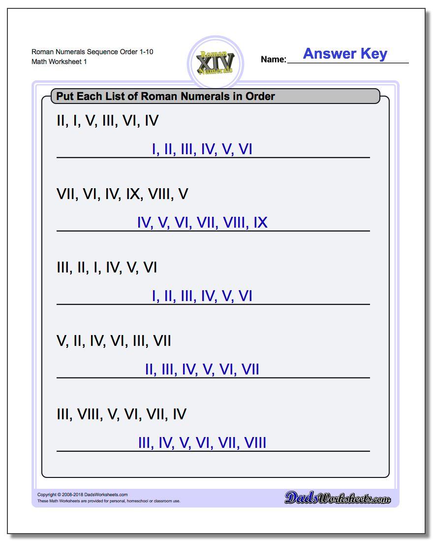 Rom N Numer L Der G Sequenti L