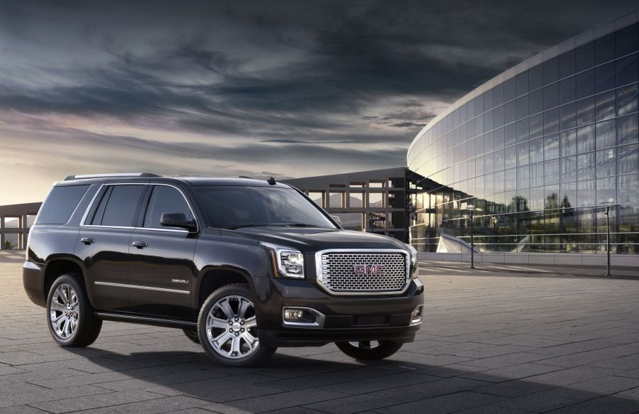 Big SUVs rumble along as GM shows new models     Daily Breeze This undated photo provided by General Motors shows the 2015 GMC Yukon  Denali  General Motors  which sells more SUVs than any other company  is  unveiling a