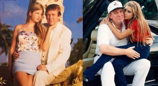 Donald Daughter Lap Trump