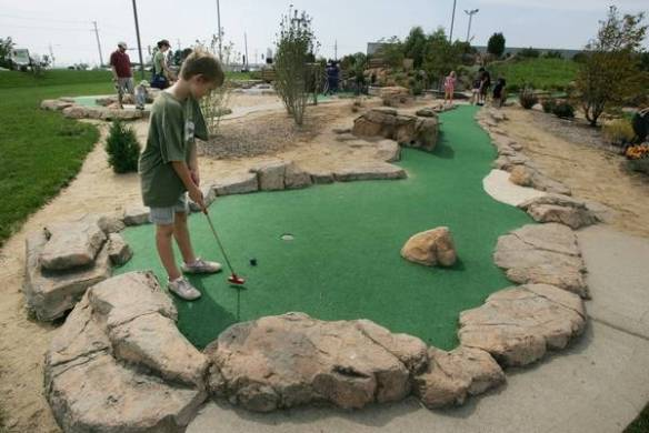 Fun mini golf courses to putt a round in the suburbs Aloha Falls Miniature Golf in Libertyville boasts two 18 hole courses   including one once