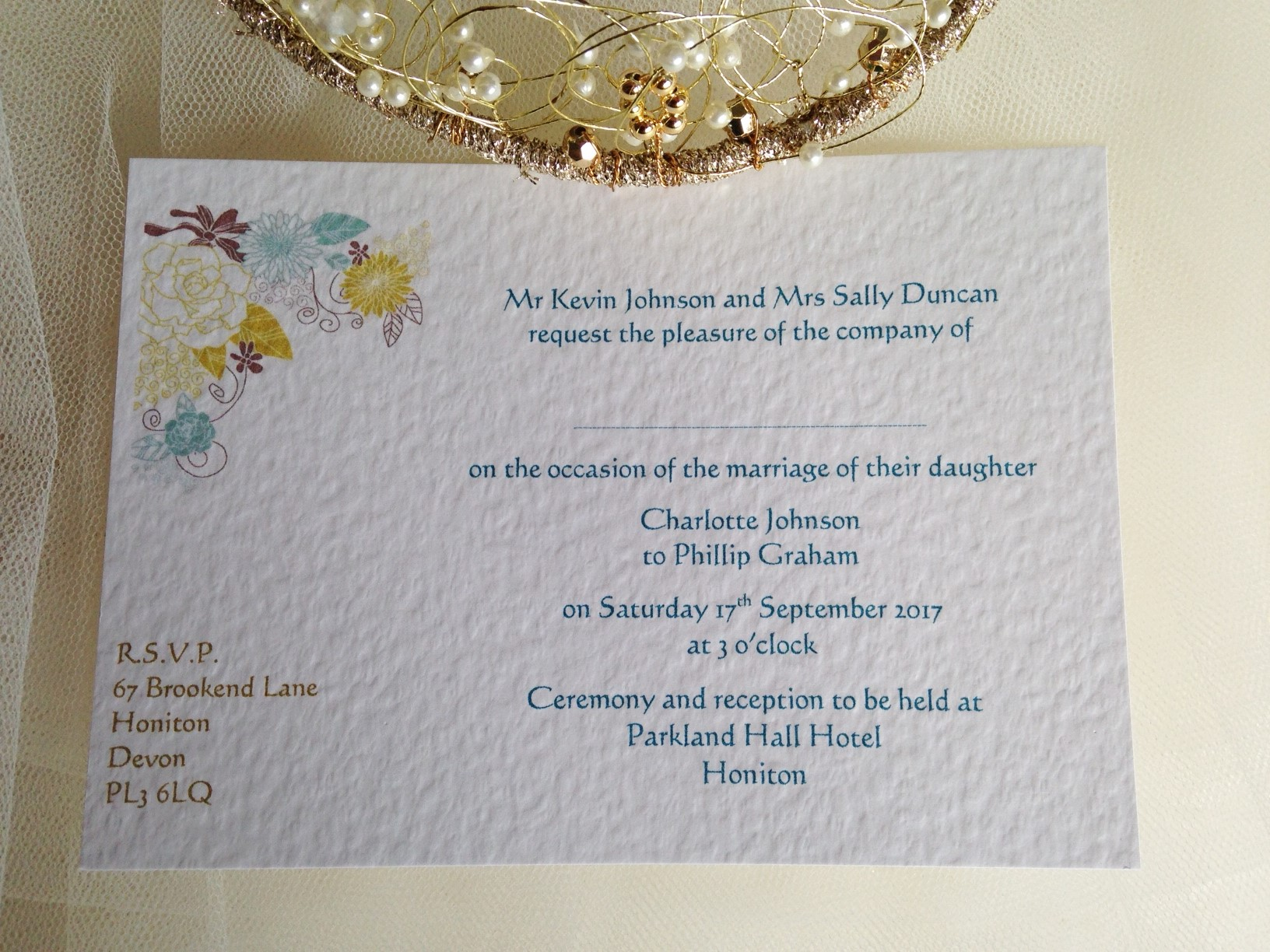 Postcard Christening Invitations