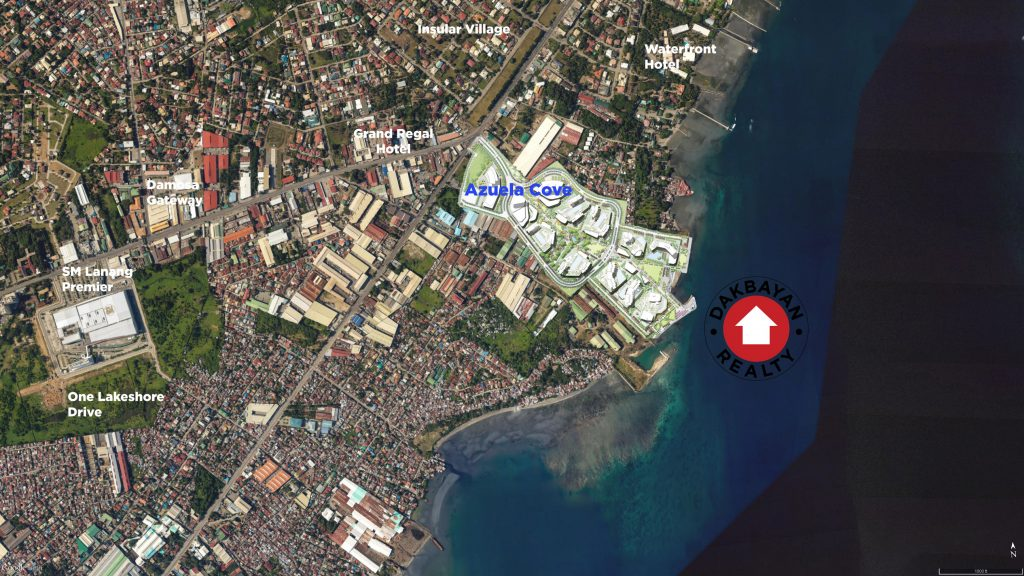 Azuela Cove Location Map Davao City Dakbayan Realty