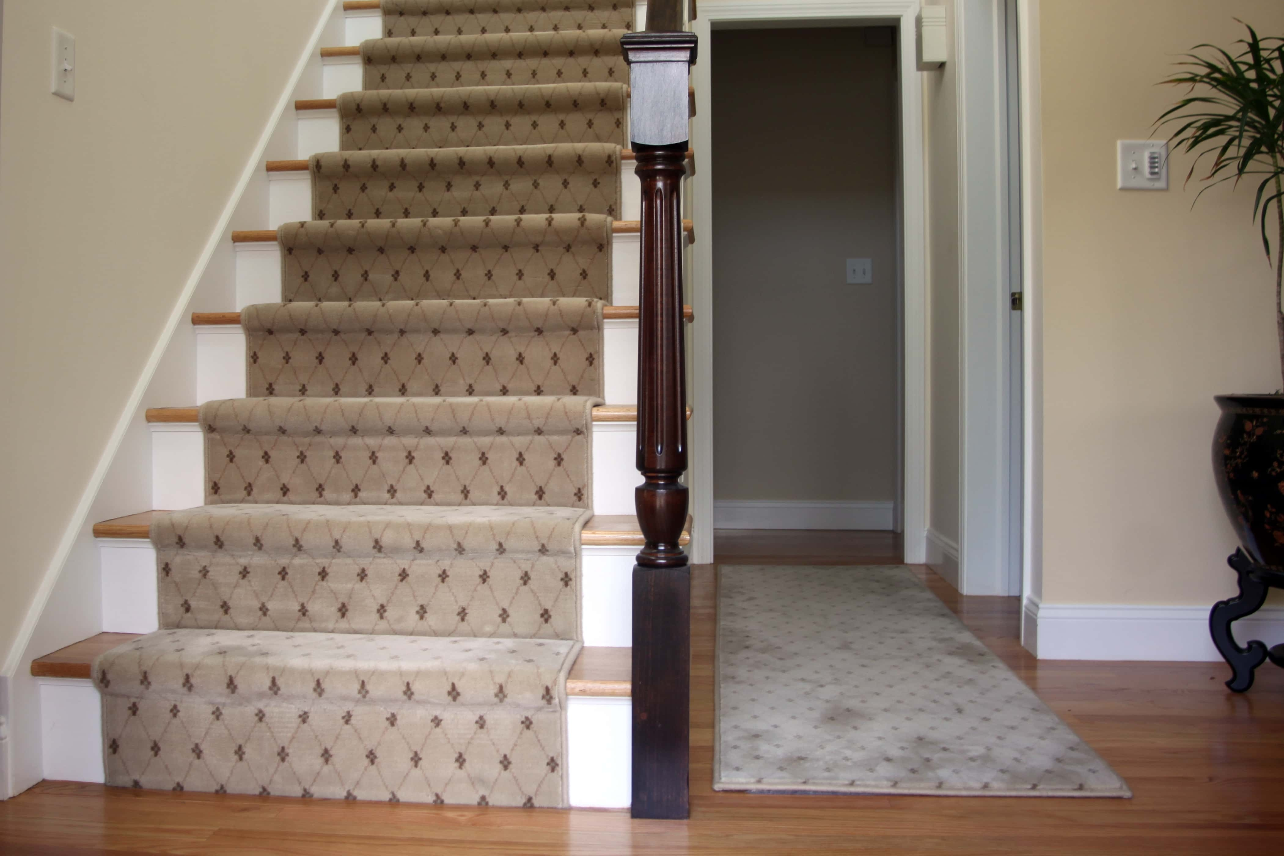 Want To Add A Little Hollywood To Your Home Dalene Flooring   Carpet On Wooden Stairs   Victorian   Combined Wood   Jute   Dark   Hall