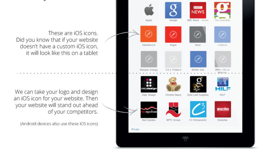 Apple Touch icons for mobile devices designed for you