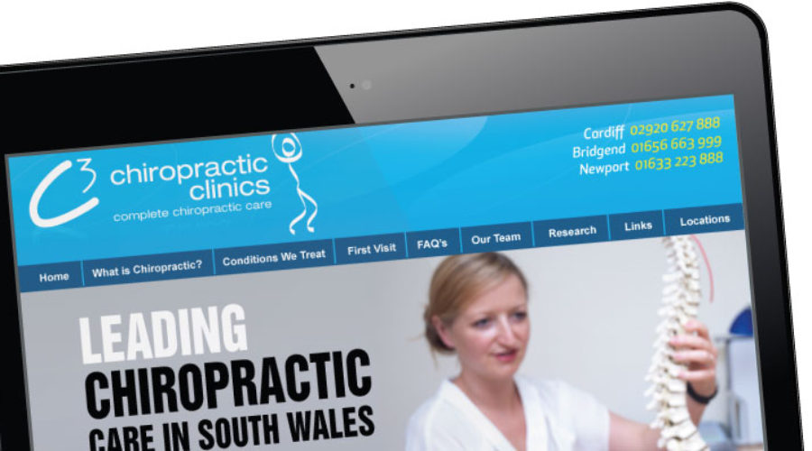 Website launched for Bridgend and Cardiff's C3 Chiropractic Clinic