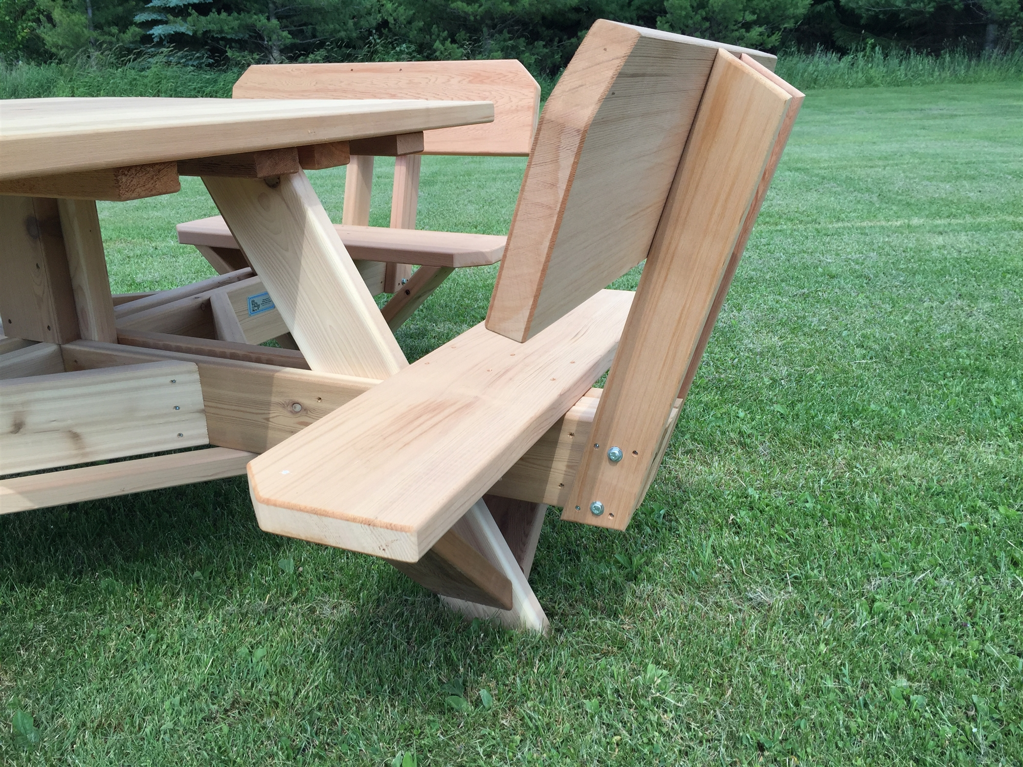Square Patio Table With Umbrella Hole 45 Quot Picnic Table