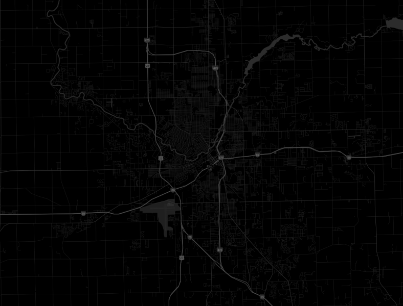 Data   Science The map above uses the  dark  map and has the  Streets and Highways   checked  Notice how the streets are showing up on the map  They are very  hard to see