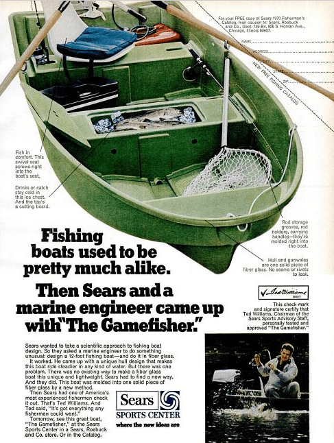 12 Ft 1982 Sears Gamefisher Boat
