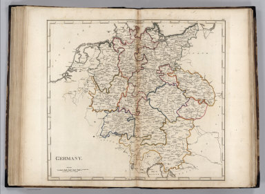 Browse All   Atlas Map of Germany from 1818   David Rumsey     Carey  Mathew  Germany  1818