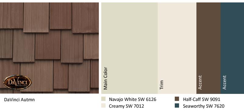 Exterior Color Scheme Autumn Davinci Shake Roof