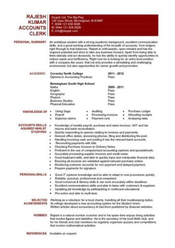 Fresh Graduate Sales Resume