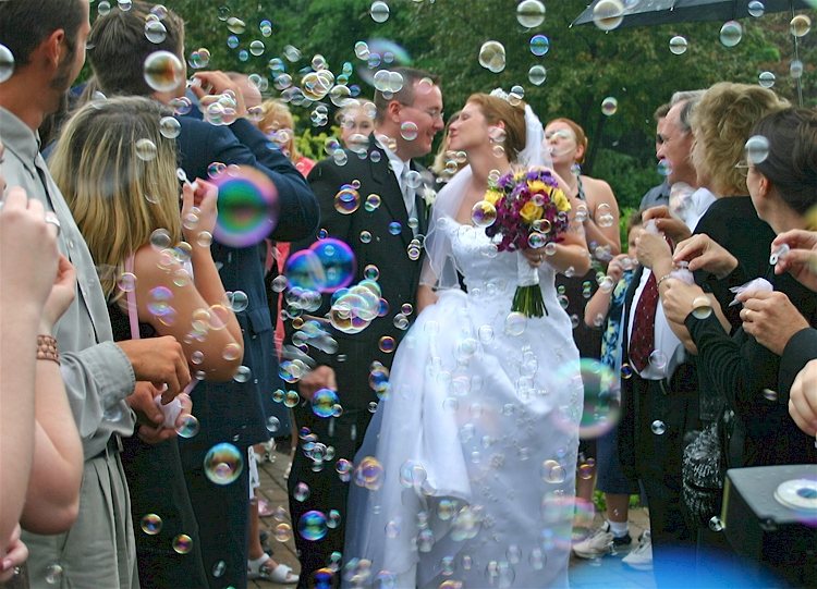 Bubbles Wedding Ceremony