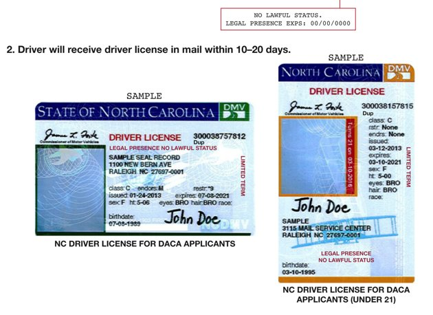 Carolina 2013 Drivers North License Drivers North License Carolina 2013