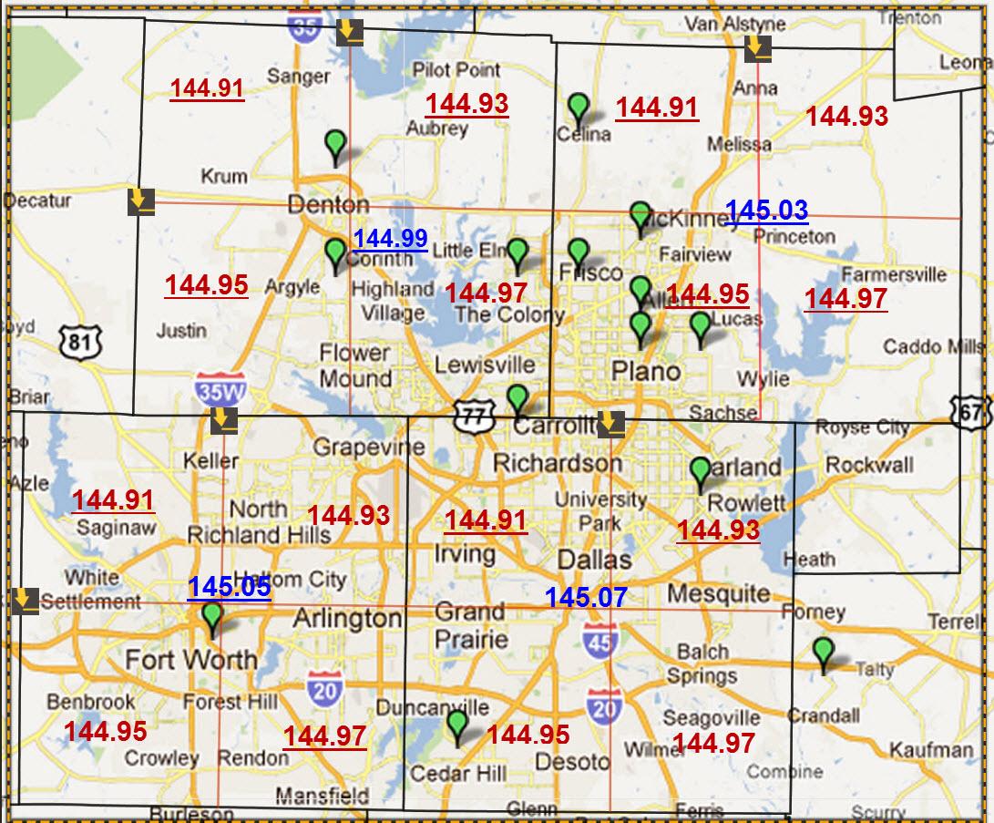 Area Tx Map Dallas Code