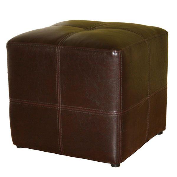 Ottoman Storage Footstool Leather