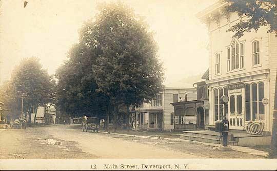 Davenport 2 Old Postcards Delaware County Ny Genealogy