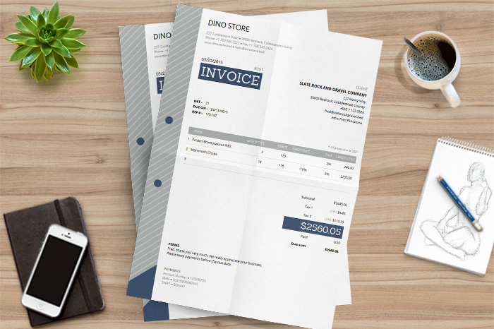 Free HTML Invoice Template with Auto Calculations    DealFuel free HTML invoice template sample
