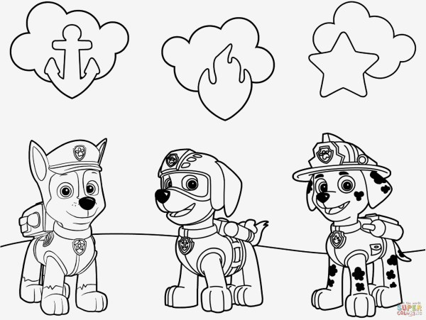 paw patrol ausmalbilder # 35