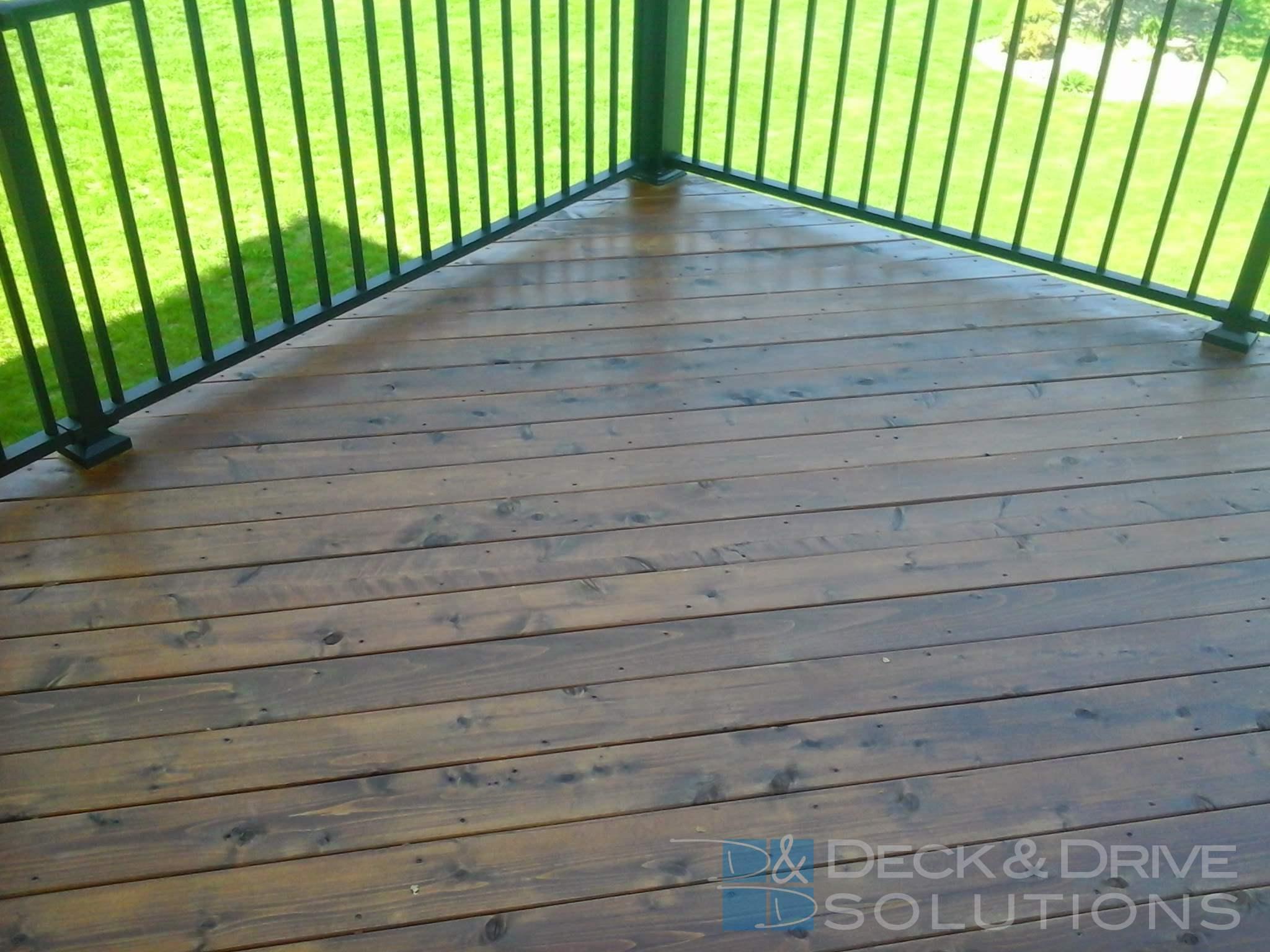 Mission Brown Penofin On New Cedar Deck Des Moines Deck