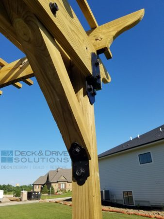 Custom Pergola With Ozco Brackets Des Moines Deck