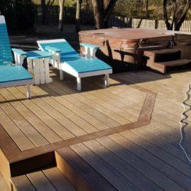 Trex Coastal Bluff And Pergola Des Moines Deck Builder