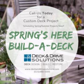 Des Moines Deck Builder Deck And Drive Solutions Deck