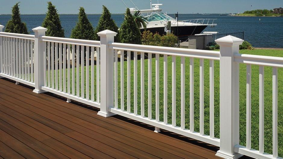 Fiberon Symmetry Railing Kits | White Railing Black Spindles | Porch | Iron Balusters | Wrought Iron | Porch Railing | Trex Deck