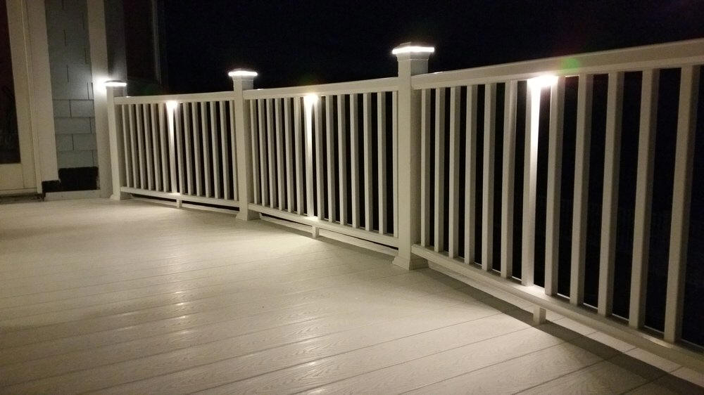 White Vinyl Deck Railing