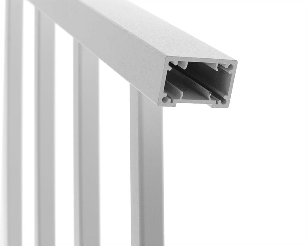 Contemporary Aluminum Railing Deckorators | Lowes Exterior Stair Railing | Railing Systems | Stair Parts | Stair Treads | Lowes Com | Wrought Iron