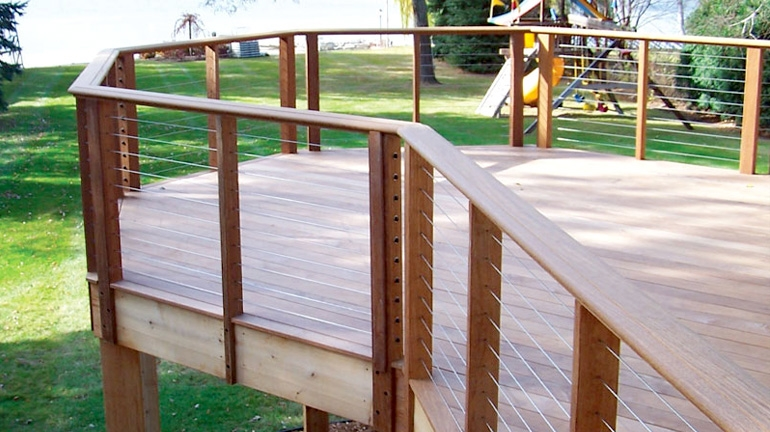 Cable Railing Decksdirect   Wood And Cable Stair Railing   Stairway   Wrought Iron   Staircase Railing   White   Vertical