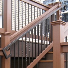 Metal Deck Handrails Deck Stair Railing Aluminum Steel | Wood And Metal Handrail | Interior | Iron Railing | Architectural Modern Wood Stair | Stainless Steel | Traditional