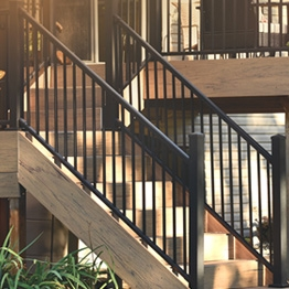 Metal Stair Railing Outdoor Porch Railing Decksdirect | Metal Railing For Steps Outside | Front Porch | Deck Stair | Aluminum | Deck Railing | Staircase