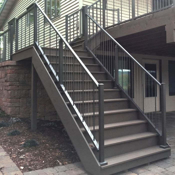 Verticable Stair Rail Section Kits By Westbury Aluminum Railing   Installing Aluminum Stair Railing   Balcony Deck   Railing Systems   Westbury   Deckorators   Trex Decking