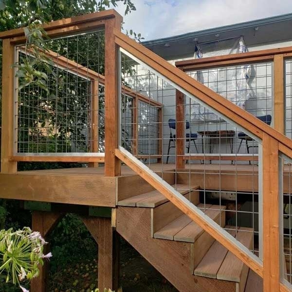 U S S Hog Stainless Steel Level Panels By Wild Hog Railing | Metal Wire Stair Railing | Handrail | Contemporary | Balcony | Steel Structure | Indoor