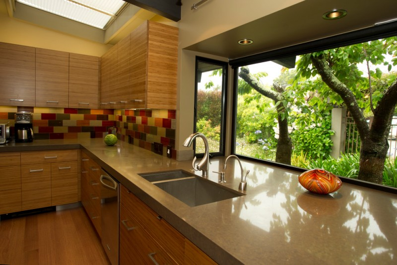 L Shaped Kitchen Design Window