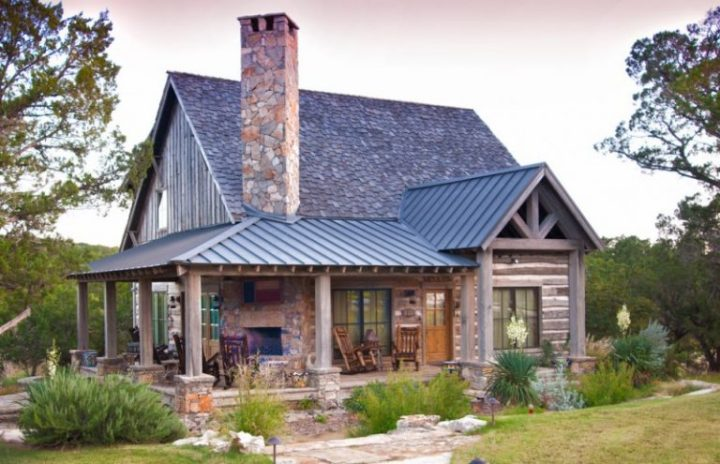 Beautiful Rustic Houses to Get Ideas for Small Rustic House Plans     small rustic house plans rocking chairs pillars roof doors window stone  grass fireplace outdoor area wood