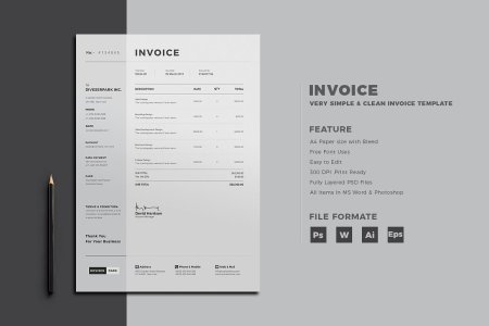 30  Simple  Customizable Invoice Templates   Decolore Net     easy to be edited and designed to make such a good impression   Minimalistic approach will highlight the appropriate data in your Invoice  Template