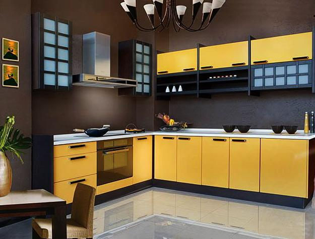 Kitchen Design Yellow And White